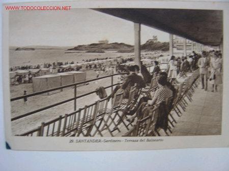 SANTANDER SARDINERO. TERRAZA DEL BALNEARIO (Postales - España - Cantabria Antigua (hasta 1.939))