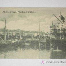 Cartes Postales: SANTANDER. Nº 42. MUELLES DE MALIAÑO. EDICIÓN RAFAEL MARTÍNEZ. NUEVA, TRASATLÁNTICO SIBONEY. Lote 24362828