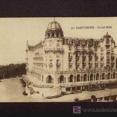Postales: POSTAL DE SANTANDER (CANTABRIA): HOTEL REAL (ED.LA IDEAL 29). Lote 3344616