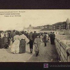 Postales: POSTAL DE SANTANDER (CANTABRIA): SARDINERO, PASEO DE LA TERRAZA (LIBR.GENERAL) (MUIY ANIMADA). Lote 3344723