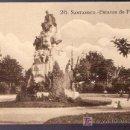 Postales: TARJETA POSTAL DE SANTANDER. Nº 26. ESTATUA DE PEREDA. EDICION LA IDEAL. SANTANDER.. Lote 4987427