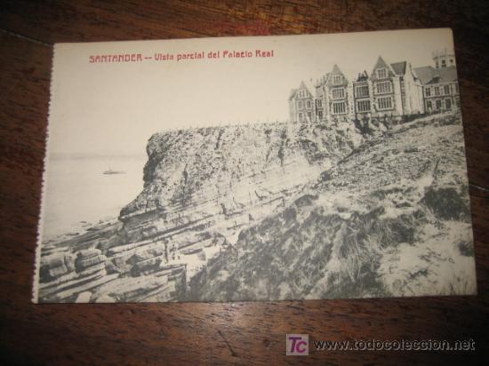 SANTANDER VISTA PARCIAL DEL PALACIO REAL FOTOTIPIA CASTAÑEIRA Y ALVAREZ (Postales - España - Cantabria Antigua (hasta 1.939))