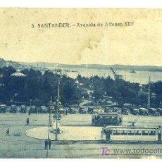 Postales: TARJETA POSTAL DE SANTANDER, AVENIDA DE ALFONSO XIII. Lote 6835087