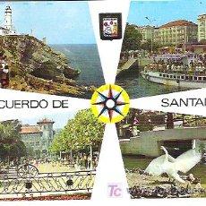 Postales: Nº 113 SANTANDER , FARO DE CABO MAYOR *** DOMINGUEZ *****60/70*** SIN CIRCULAR. Lote 6904513