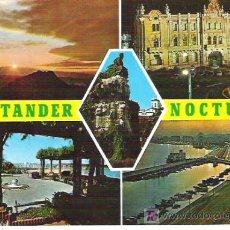 Postales: 272 - SANTANDER DE NOCHE *** FOTO ALSAR **** 196..... *** SIN CIRCULAR. Lote 6913089