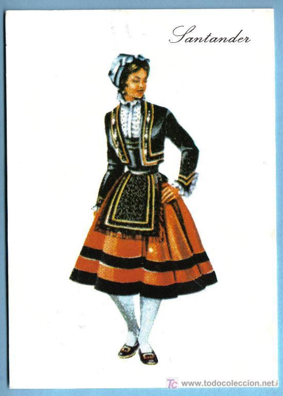 SANTANDER - TRAJE TIPICO- POSTAL CIRCULADA (Postales - España - Cantabria Moderna (desde 1.940))
