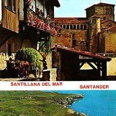Postales: POSTAL DE SANTILLANA DEL MAR Nº289, FARO Y COSTA Y COLEGIATA. Lote 7419611