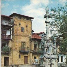 Cartoline: POSTAL DE SANTANDER, COMILLAS, FUENTE DE TRES CAÑOS Y CALLE DE LOS ARZOBISPOS. Lote 7499075
