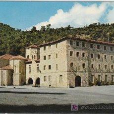 Postales: POSTAL DE SANTANDER Nº99, SANTO TORIBIO DE LIEBANA, IGLESIA Y RESIDENCIA. Lote 7503001