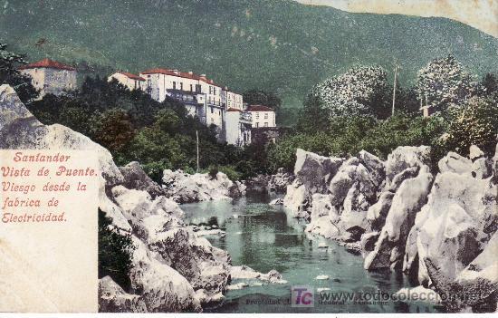 SANTANDER.VISTA DE PUENTE VIESGODESDE LA FABRICA DE ELECTRICIDAD.PURGER & CO.PHOTOCHROMIEKARTE 3691 (Postales - España - Cantabria Antigua (hasta 1.939))