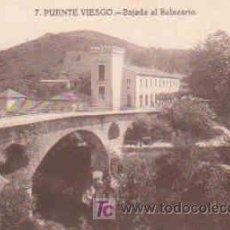 Postales: POSTAL DE PUENTE VIESGO Nº7, BAJADA DEL BALNEARIO. Lote 7913403