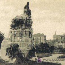 Postales: TARJETA POSTAL DE SANTANDER. MONUMENTO DE PEREDA. A. FUENTES - SANTANDER.. Lote 12810556