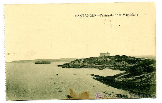 SANTANDER - PENÍNSULA DE LA MAGDALENA- ED. V. POBLADOR (NUEVA SIN USAR) (Postales - España - Cantabria Antigua (hasta 1.939))