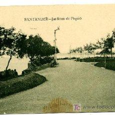Postales: SANTANDER - JARDINES DE PIQUIO- ED. V. POBLADOR (NUEVA SIN USAR). Lote 23119920
