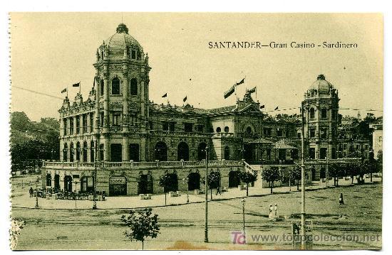 SANTANDER - GRAN CASINO - SARDINERO- ED. V. POBLADOR (NUEVA SIN USAR) (Postales - España - Cantabria Antigua (hasta 1.939))