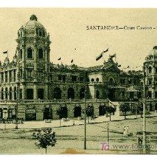 Postales: SANTANDER - GRAN CASINO - SARDINERO- ED. V. POBLADOR (NUEVA SIN USAR). Lote 25103664