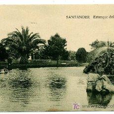 Postales: SANTANDER - ESTANQUE DEL BOULEVARD- ED. V. POBLADOR (NUEVA SIN USAR). Lote 23119918