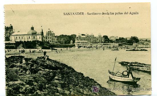 SANTANDER - SARDINERO DESDE LAS PEÑAS DEL AGUILA- ED. V. POBLADOR (NUEVA SIN USAR) (Postales - España - Cantabria Antigua (hasta 1.939))