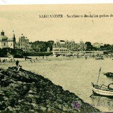 Postales: SANTANDER - SARDINERO DESDE LAS PEÑAS DEL AGUILA- ED. V. POBLADOR (NUEVA SIN USAR). Lote 26274453