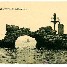 Postales: SANTANDER - PEÑA HORADADA- ED. V. POBLADOR (NUEVA SIN USAR). Lote 26274454