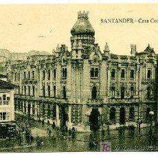 Postales: SANTANDER - CASA CONSISTORIAL- ED. V. POBLADOR (NUEVA SIN USAR). Lote 25182735