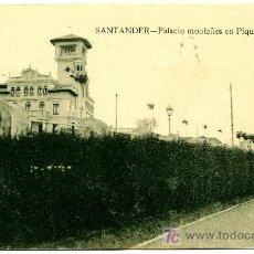 Postales: SANTANDER - PALACIO MONTAÑES EN PIQUIO- ED. V. POBLADOR (NUEVA SIN USAR). Lote 23119921