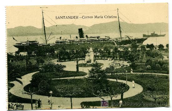 SANTANDER - CORREO MARÍA CRISTINA- ED. V. POBLADOR (NUEVA SIN USAR) (Postales - España - Cantabria Antigua (hasta 1.939))