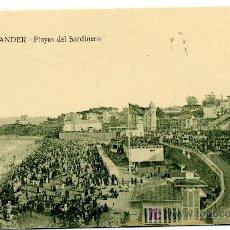 Postales: SANTANDER - PLAYAS DEL SARDINERO- ED. V. POBLADOR (NUEVA SIN USAR). Lote 23157647