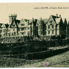 Postales: SANTANDER - PALACIO REAL DE LA MAGDALENA- ED. V. POBLADOR (NUEVA SIN USAR). Lote 23119922