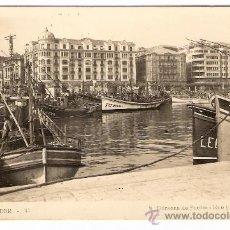 Postales: TARJETA POSTAL DE SANTANDER- º41- DARSENA DE PUERTO CHICO Y CASTELAR. . Lote 8475536