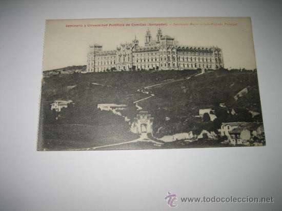 SEMINARIO Y UNIVERSIDAD PONTIFICIA DE COMILLAS.-SANTANDER.-SEMINARIO MAYOR AISLADO-FACHADA PRINCIPA (Postales - España - Cantabria Antigua (hasta 1.939))