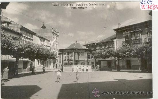 (PS-7083)POSTAL DE AMPUERO-PLAZA DE GENERALISIMO (Postales - España - Cantabria Moderna (desde 1.940))