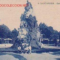 Postales: TARJETA POSTAL ANTIGUA DE SANTANDER. Nº 6. - ESTATUA DE PEREDA.. Lote 11019672