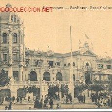 Postales: TARJETA POSTAL DE SANTANDER. SARDINERO GRAN CASINO. EDIT. JULIO PALACIOS. Lote 10318304