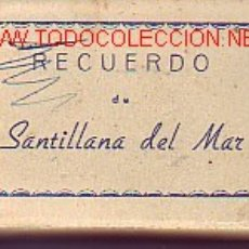 Postales: RECUERDO DE SANTILLANA DEL MAR CON 20 VISTAS PLEGADAS. Lote 8497136