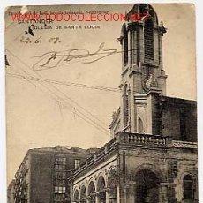 Cartes Postales: SANTANDER IGLESIA DE SANTA LUCIA. ED. LIBRERÍA GENERAL HAUSER Y MENET. CIRCULADA EN 1908. Lote 2729500