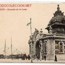Postales: SANTANDER. ESTACION DE LA COSTA. CIRCULADA EN 1912. Lote 2744710