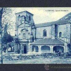 Postales: POSTAL DE LIMPIAS (CANTABRIA): IGLESIA PARROQUIAL (ED.L.MARUGAN NUM.3). Lote 9988560