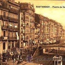 Postales: POSTAL DE SANTANDER PUENTE DE VARGAS Y LA RIBERA. Lote 11000604