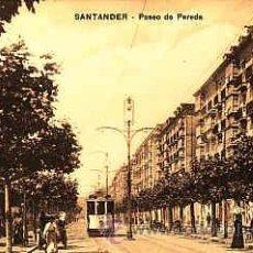 Postales: POSTAL DE SANTANDER PASEO DE PEREDA. Lote 11000666