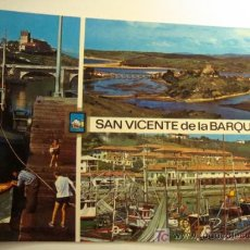 Postales: SAN VICENTE DE LA BARQUERA, CANTABRIA, DIVERSOS ASPECTOS. Lote 11610632
