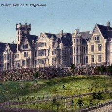 Postales: Nº 129 POSTAL SANTANDER PALACIO REAL DE LA MAGDALENA CANTABRIA. Lote 13616274