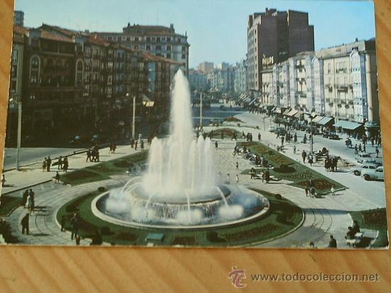 POSTAL DE SANTANDER,PLAZA DEL GENERALISIMO. AÑOS 60. (Postales - España - Cantabria Moderna (desde 1.940))