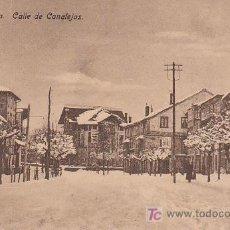 Postales: POSTAL DE REINOSA NEVADA - CALLE DE CANALEJAS - SIN CIRCULAR. Lote 27620282