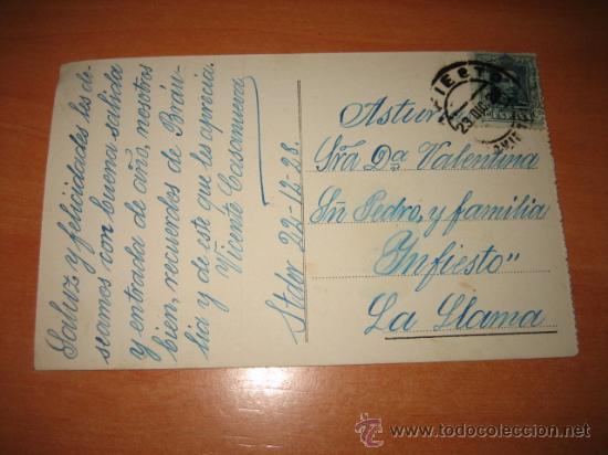 Postales: 4.-SANTANDER-AVENIDA DE ALFONSO XIII CIRCULADA 1928 SANTANDER-INFIESTO - Foto 2 - 15163743