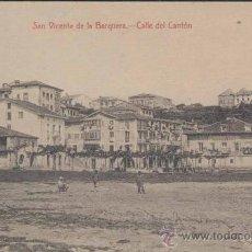 Postales: SAN VICENTE DE LA BARQUERA(CANTABRIA).-CALLE DEL CANTÓN. Lote 15358464