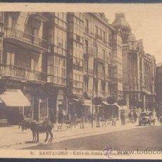 Postales: SANTANDER(CANTABRIA).-CALLE DE AMÓS DE ESCALANTE. Lote 15969136