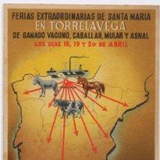 Postales: TORRELAVEGA(CANTABRIA).-FERIAS EXTRAORDINARIAS DE GANADO VACUNO,MULAR Y CABALLAR. Lote 16433903