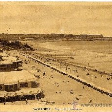 Postales: SANTANDER - PLAYA DEL SARDINERO - M. ARRIBAS - CIRCULADA 1943. Lote 16586878