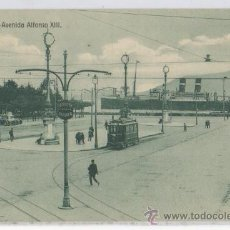 Postales: TARJETA POSTAL DE SANTANDER AVENIDA ALFONSO XIII TRANVIA SASTREIRA CARAYO BARCO CANTABRIA . Lote 17087285